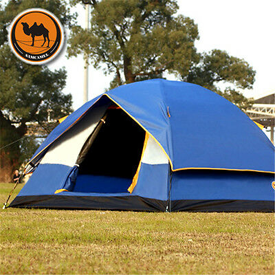 Camping 3-4 Person 4-Season Thicken Oxford Outdoor Hiking Tent For Family Party
