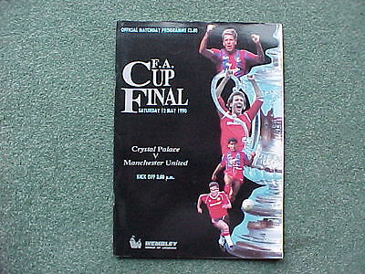 1990 FA CUP FINAL - Crystal Palace v Manchester United at Wembley - EXCELLENT