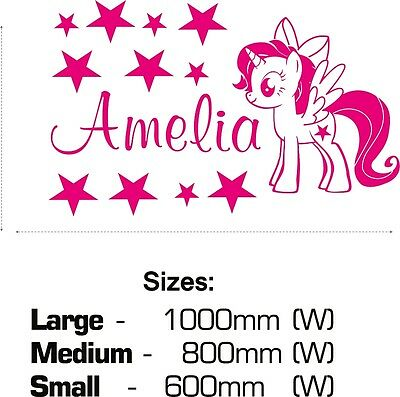My Little Pony Unicorn Wall Stickers Personalised Name Girls Twilight Sparkle