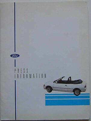 Ford Escort Mk 5 1.6 S Estate Van Cabriolet Seeka 1991 Original UK Press Pack