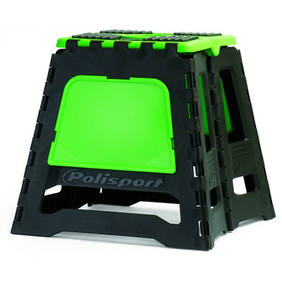 Polisport MX Motocross Enduro Folding Bike Stand - Black/Green