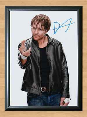 Dean Ambrose Jonathan Good WWE Signed Autographed A4 Print Photo Poster WWF UFC