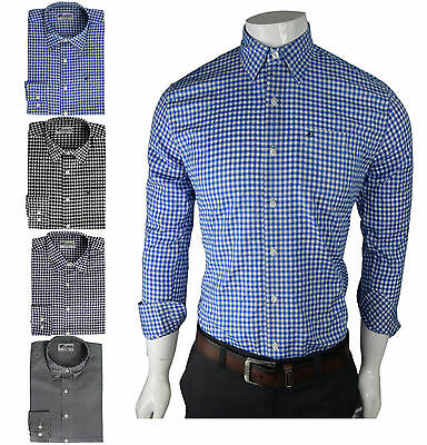 Mens Formal Shirt Slim Fit Full Sleeve Collared Casual Fit Check Shirt all size
