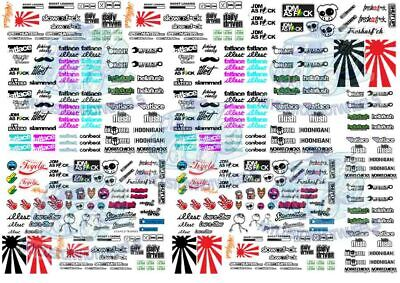 JDM Decal Pack 2 - Waterslide Decals for Hot Wheels & all scale Model Cars