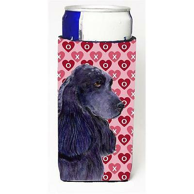 Black Cocker Spaniel Hearts Love Valentines Day Michelob Ultra bottle sleeves...
