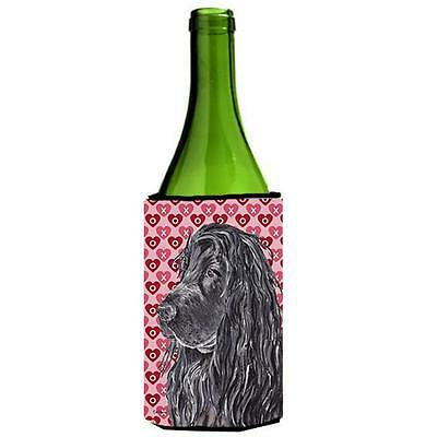 English Cocker Spaniel Valentines Love Wine bottle sleeve Hugger 24 oz.
