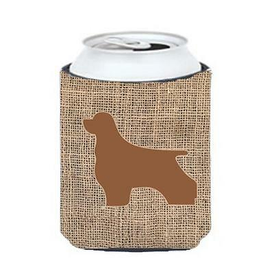 Carolines Treasures Cocker Spaniel Burlap And Brown Can Or Bottle Hugger