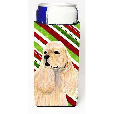 Cocker Spaniel Candy Cane Holiday Christmas Michelob Ultra bottle sleeves For...