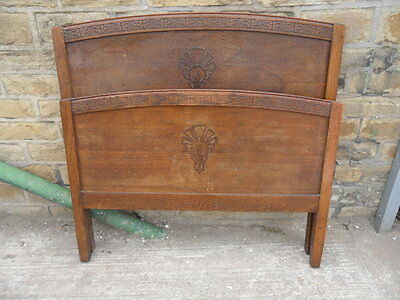 original pair of 1930s 1940s bed heads headboards sold spares repairs no irons ?