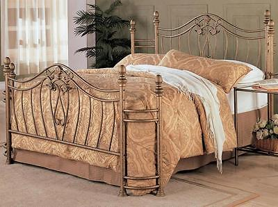 Sydney Antique Brushed Gold Full Size Iron Bed by Coaster 300171F