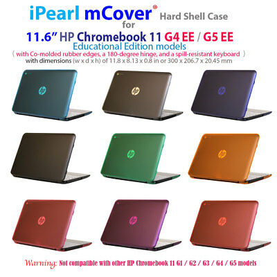 "NEW CLEAR mCover® HARD Shell CASE for 11.6"" HP Chromebook 11 G4 EE / G5 EE"