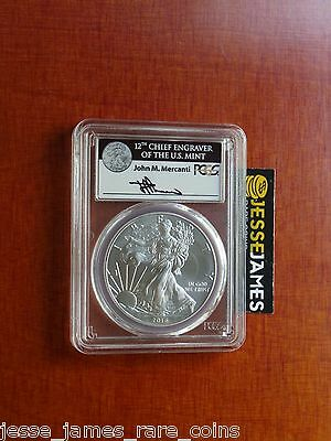 2016 Silver Eagle Pcgs Ms70 Mercanti Struck At West Point 30Th Anniversary