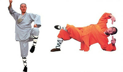 Shaolin Monk Robe Uniform Kung Fu Pants, Socks, Bindings, Meditation Suit