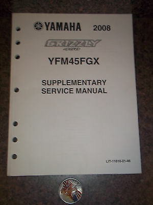 New Supplementary Yamaha Service Manual, Yfm45Fgx 2008 Grizzly