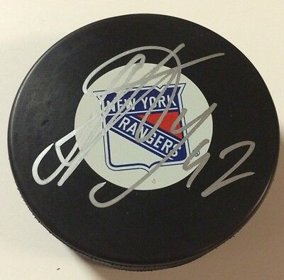 Autographs-original Matt Gilroy Autographed New York Rangers Puck Nhl Hockey-nhl