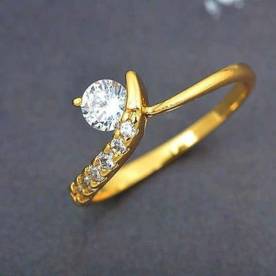 14K gold filled Wedding Ring For Women Mens Size:7 Stylish Customizable