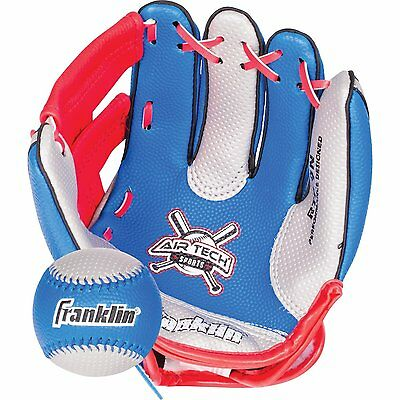 Franklin Sports Air Tech Soft Foam Baseball Glove and Ball Set For Kids-Youth