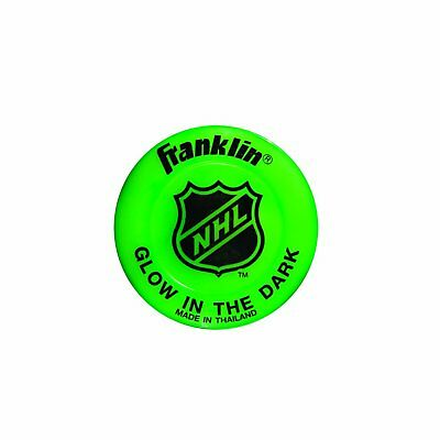 Franklin Sports Glow In The Dark Street Roller Hockey Puck Durable 12226