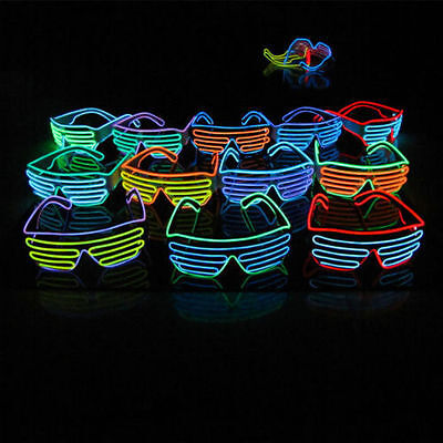 Colorful Shutter Shades New Sound Activated Led Flashing Glasses SunGlasses