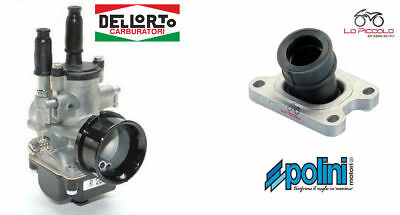 Carburatore Phbg 19 Ds + Collettore Aspirazione Polini Aprilia Rx 50 Am6