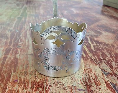 Antique Russian Solid silver tea glass cup holder