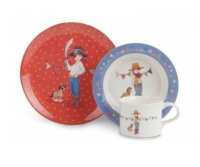 Belle and Boo 3 Piece Melamine Boys Set