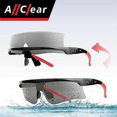 AllClear SELF-CLEAN Water Jet Ski Boat Sunglasses Clear Lens from water splash