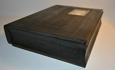 Wood Handcrafted Box Book Shaped from Les Cent Ciels Quebec Memory Jewelry Box