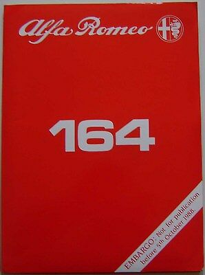 Alfa Romeo 164 3.0 V6 1988 Original UK Launch Press Kit