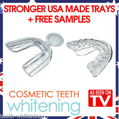 Teeth Whitening Mouth Tray Set (3 Trays) - High Quality Better Usa Made Guards