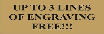 """Lot of 3 Custom Gold Aluminum Plates - Sublimated - 1""""x3"""" - Free Lettering"""
