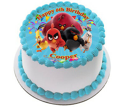 Angry Birds  Real Edible Icing Cake Topper Party Image Frosting Sheet