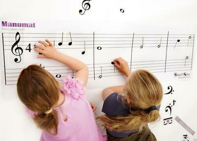 Music Teacher Resource Giant Manuscript Floor Mat Double Stave and Notes
