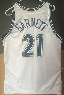 Kevin Garnett 1995/96 Game Issued Rookie Jersey Timberwolves S46 +0 Pro Cut