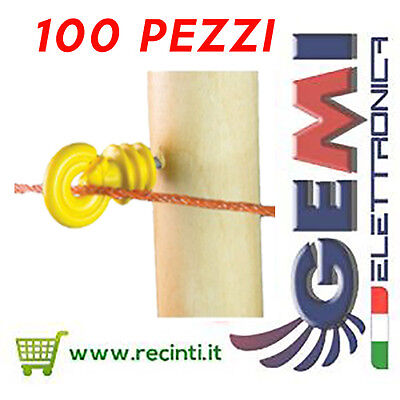 Wood Post Insulators For Electric Fence 100 Pz Gemi