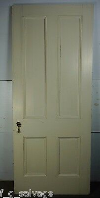 "Antique Vintage 4 Panel Interior Door 80-3/4"" X 34"" (K4) 1800's Local Pickup"