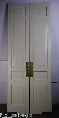 "Antique Vintage Pair of Interior Swinging Doors 108"" X 21"" Each Local Pickup"