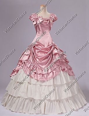 Victorian Belle Prom Dress Princess Ball Gown Theater Reenactment Clothing 270