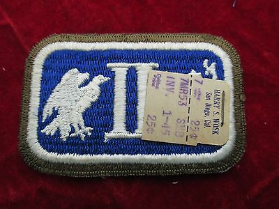 US Army 2nd Corps patch with original store tag Infantry OD border