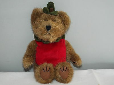 "Boyds Collection Bear: SMITH APPLEWISH 918357 TJ's Best Dressed, 9"" tall"