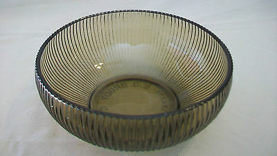 Vintage Brown Ribbed Glass Bowl From E. O. Brody Company