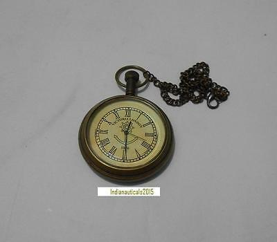 "Vintage 2 "" Victoria London 1876 Anchor Chain Antique Look Pocket Watch Replica"