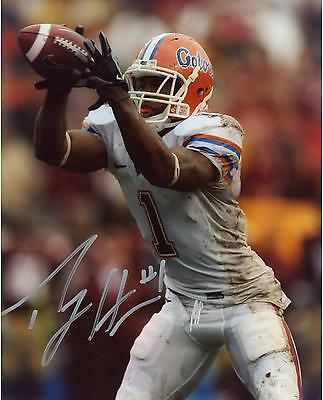Percy Harvin Florida Gators Autographed 8'' x 10'' Making Catch Photograph