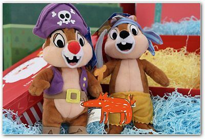 Chip and chop peluches 20 cm piratas disney 2ud/ chip and dale