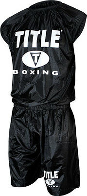 TITLE Boxing Weight Sweat Sauna Suit MMA Wrestling Equipment Workout Gear