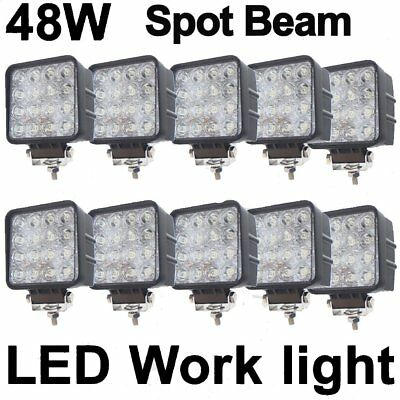 10X 12V 24V 48W LED Work Light Spot Pencil beam Lamp off road car Truck 4WD UTE