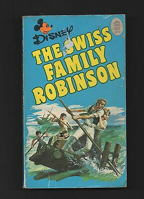 THE SWISS FAMILY ROBINSON Disney Film Tie In Paperback with Photographs 1976 1st