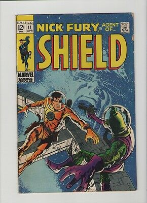Nick Fury: Agent Of SHIELD #11 - Space Cover - 1969 (Grade 5.0) WH