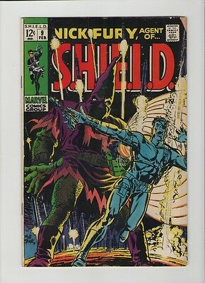 Nick Fury: Agent Of SHIELD #9 - Hate Monger - 1969 (Grade 5.0) WH