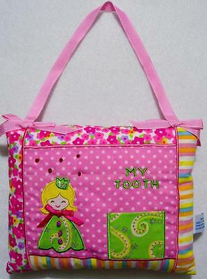 """GIRLS PINK PRINCESS TOOTH FAIRY PILLOW W/BEADING & EMBROIDERY~NEW 6"""" x 7"""""""